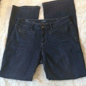 Loft bootcut jeans size 10 curvy
